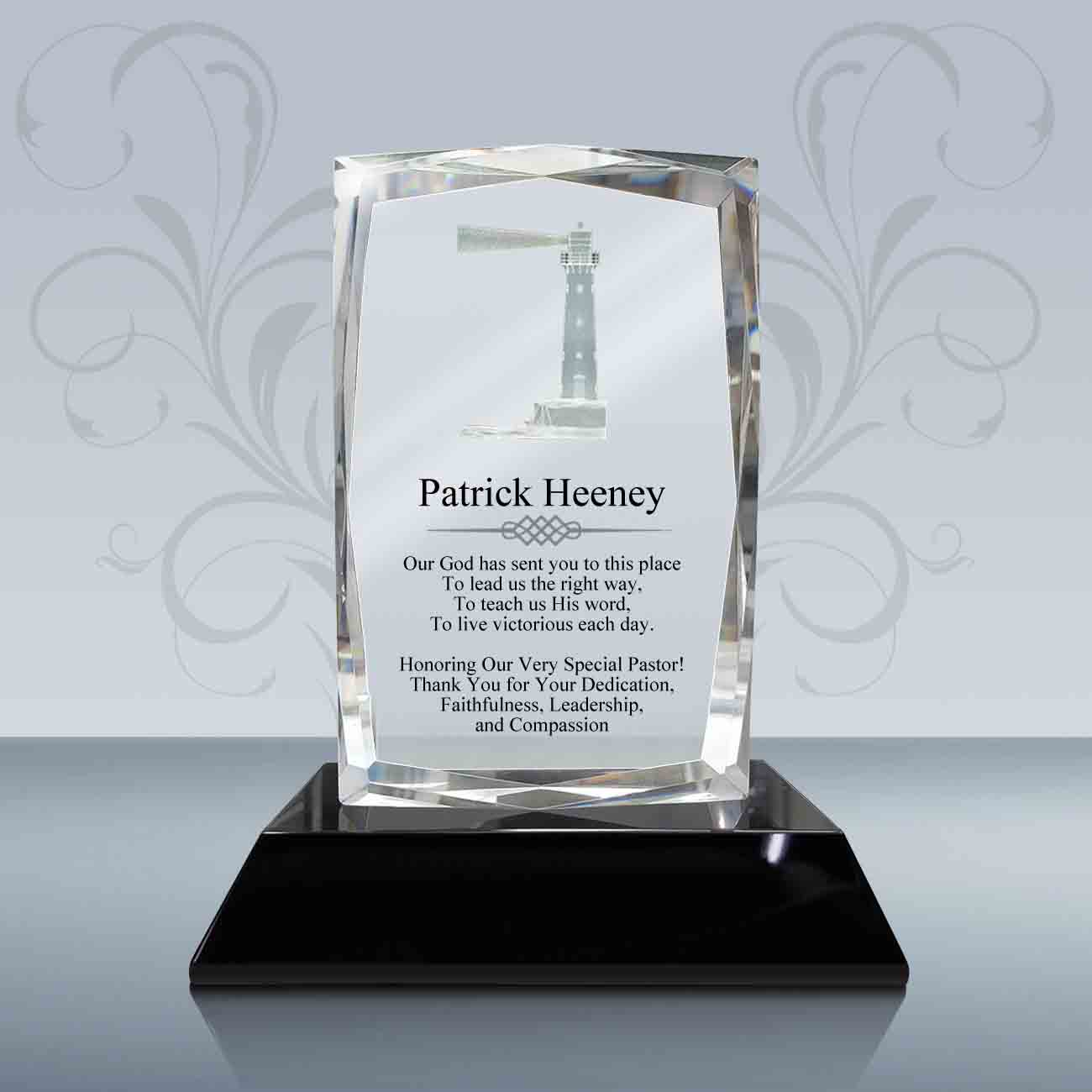 pastor appreciation gift  u2013 3d presidential crystal plaque
