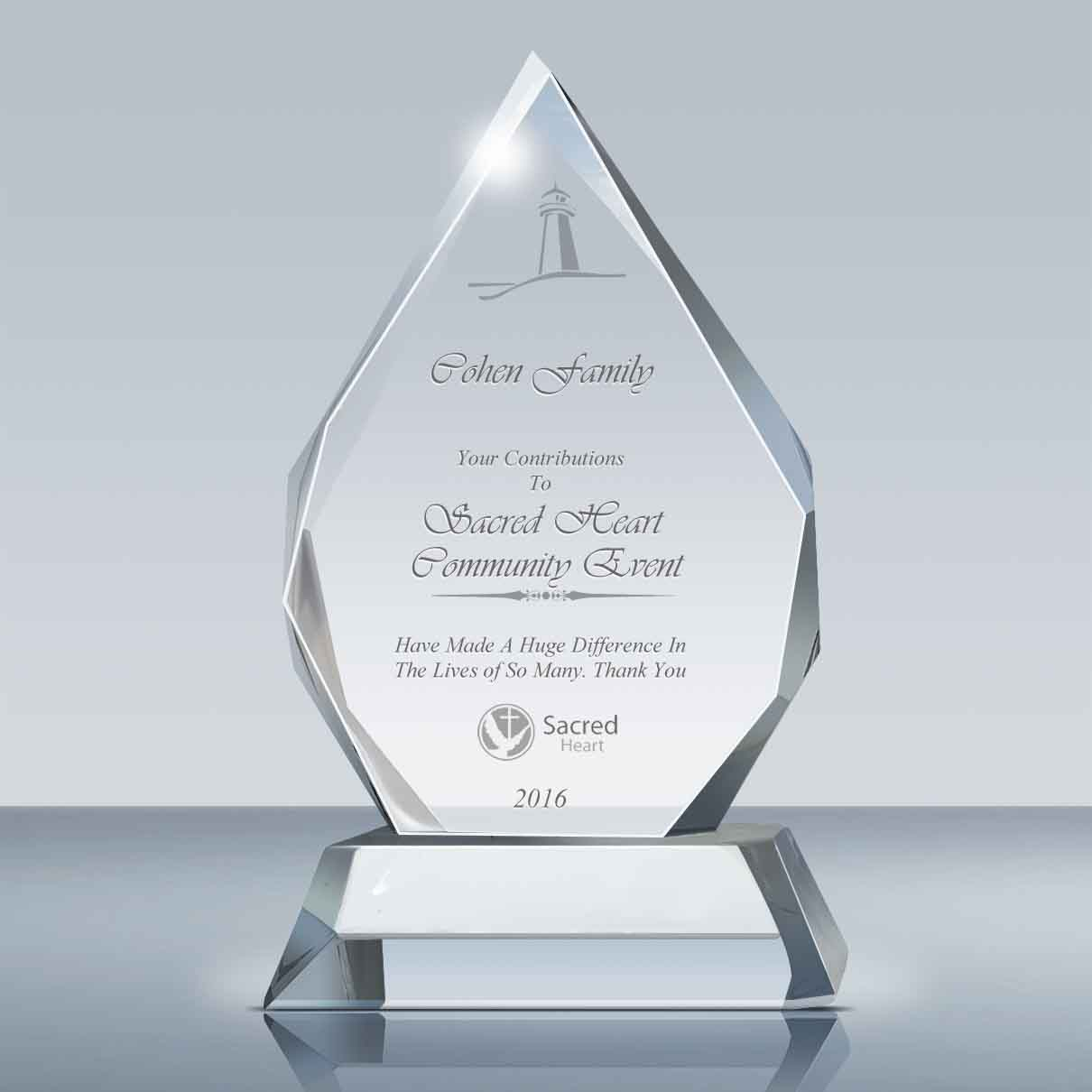donor appreciation gift majestic crystal award 006 grouped