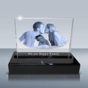 B01023 Family PHoto Crystal Laser Engraving Glass Etching
